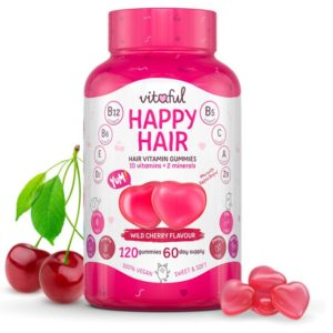 VITAFUL Happy Hair Hajerősítő Gumivitamin (120 db)